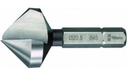 WE-104663 — Зенкер конический с одной канавкой WERA 845, 90°, 12.4 mm