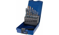Набор метчиков машинных BLUE RING и свёрл HSS-E V3, DIN 371/376, Тип B, 14 предметов, M3/4/5/6/8/10/12, DIN 338 тип N d 2.5/3.3/4.2/5.0/6.8/8.5/10.2 м
