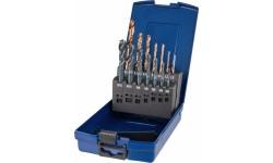 Набор метчиков машинных BLUE RING и свёрл HSS-E V3, DIN 371/376, 35°RSP, 14 предметов, M3/4/5/6/8/10/12, DIN 338 тип N d 2.5/3.3/4.2/5.0/6.8/8.5/10.2м
