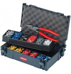 Набор кабельных наконечников с инструментом для опрессовки 97 90 06, KN-979006, 12850 руб., KN-979006, KNIPEX, Наборы инструментов и комплектующих