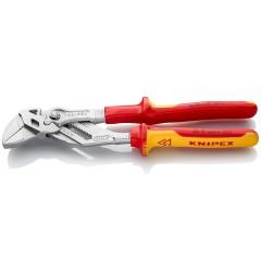Клещи переставные-гаечный ключ, хромированные 250 mm KNIPEX 86 06 250, KN-8606250, 6607 руб., KN-8606250, KNIPEX, Клещи переставные