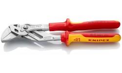 Клещи переставные-гаечный ключ, хромированные 250 mm KNIPEX 86 06 250, KN-8606250, 8159 руб., KN-8606250, KNIPEX, Клещи переставные