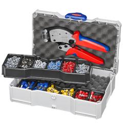 Набор для опрессовки в систейнере: Twistor16® KN-975318 и кабельные наконечники, , 29038 руб., KN-979013, KNIPEX, Обжимники