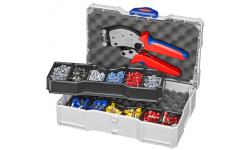 Набор для опрессовки в систейнере: Twistor16® KN-975318 и кабельные наконечники, , 33858 руб., KN-979013, KNIPEX, Обжимники