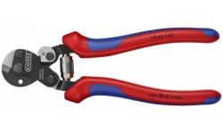 Ножницы для резки проволочных тросов, 160 mm KNIPEX 95 62 160, KN-9562160, 3882 руб., KN-9562160, KNIPEX, Ножницы для резки кабеля , проволочных тросов, пластмассы и др.