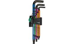Набор Г-образных ключей, метрических WERA 950 SPKL/9 SM N Multicolour BlackLaser 022089, WE-022089, 3684 руб., WE-022089, WERA, Биты WERA