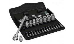 "8100 SA 11 Zyklop Metal - набор с трещоткой, переключение реверса, привод 1/4"", дюймовый WERA 004021, WE-004021, 8730 руб., WE-004021, WERA, Новинки WERA"