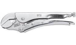 Клещи зажимные KNIPEX 40 14 250, с плавающей губкой, никелированные, 250 мм KN-4014250, KN-4014250, 3709 руб., KN-4014250, KNIPEX, Новинки KNIPEX