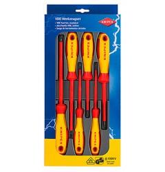 Набор отверток 6 предметов KNIPEX 00 20 12V01 KN-002012V01, KN-002012V01, 5181 руб., KN-002012V01, KNIPEX, Наборы инструментов и комплектующих