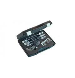 Набор бит и отвёрток из нержавеющей стали в футляре в чемодане, WE-071118, 17717 руб., WE-071118, WERA, Инструменты из нержавеющей стали