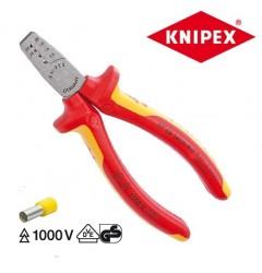 Инструмент для опрессовки контактных гильз 97 68 145A, KN-9768145A, 3018 руб., KN-9768145A, KNIPEX, Обжимники