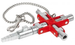 Ключ для электрошкафов KNIPEX 00 11 06 V01, универсальный KN-001106V01, KN-001106V01, 5334 руб., KN-001106V01, KNIPEX, Ключи для электрошкафов