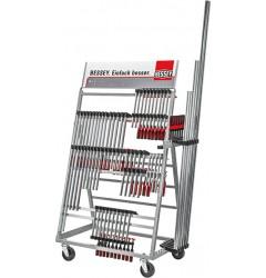 Мобильный стеллаж для струбцин ZW, с товаром BESSEY ZW2-A99-2K, BE-ZW2-A99-2K, 389720 руб., BE-ZW2-A99-2K, BESSEY, Стеллажи
