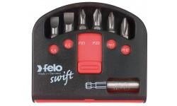 Набор бит Felo Industrial, с держателем бит в кейсе Swift, SL/PZ/PH, 7 шт , 020 601 16, , 720 руб., 02060116, Felo, Наборы бит