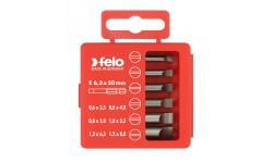 Набор бит Felo Industrial, в кейсе, SL 50 мм,  6 шт , 030 915 16, , 990 руб., 03091516, Felo, Наборы бит