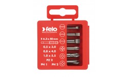 Набор бит Felo Industrial, в кейсе, SL/PZ/PH мм,  6 шт , 030 925 16, , 1090 руб., 03092516, Felo, Наборы бит