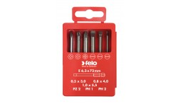 Набор бит Felo Industrial, в кейсе, SL/PZ/PH 73 мм, 6 шт , 030 927 16, , 1750 руб., 03092716, Felo, Наборы бит