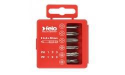 Набор бит Felo PZ1-3 и PH1-3 50 мм в упаковке, 6 шт , 032 915 16, , 1010 руб., 03291516, Felo, Наборы бит