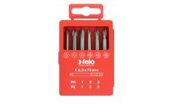 Набор бит Felo Industrial, в кейсе, PZ/PH 73 мм, 6 шт , 032 917 16, , 1460 руб., 03291716, Felo, Наборы бит