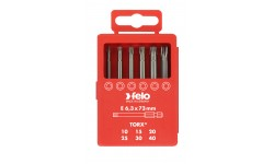 Набор бит Felo Industrial, в кейсе, Tx 73 мм, 6 шт , 036 917 16, , 1990 руб., 03691716, Felo, Наборы бит