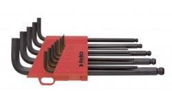 Набор дюймовых шестигранных ключей Felo, со сферической головкой, 13 шт , 375 130 01, , 2150 руб., 37513001, Felo, Шестигранные ключи