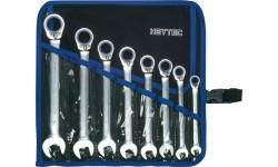 Набор комбинированных трещоточных ключей с реверсом  R 50725-8-M, HE-50725600380, 15583 руб., HE-50725600380, HEYCO, Гаечные Ключи с Трещоткой Joker