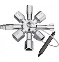 Ключ для электрошкафов TwinKey 00 11 01, KN-001101, 2901 руб., KN-001101, KNIPEX,  Ключи для электрошкафов