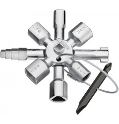 Ключ для электрошкафов TwinKey 00 11 01, KN-001101, 2901 руб., KN-001101, KNIPEX, АКЦИЯ