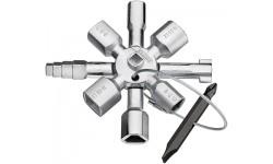 Ключ для электрошкафов KNIPEX 00 11 01 TwinKey KN-001101, KN-001101, 3646 руб., KN-001101, KNIPEX, Ключи для электрошкафов
