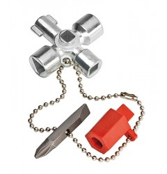 Ключ для электрошкафов 00 11 02, KN-001102, 2263 руб., KN-001102, KNIPEX,  Ключи для электрошкафов