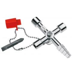 Ключ для электрошкафов 00 11 04, KN-001104, 1773 руб., KN-001104, KNIPEX,  Ключи для электрошкафов