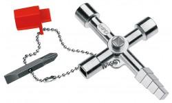 Ключ для электрошкафов KNIPEX 00 11 04, профессиональный KN-001104, KN-001104, 2227 руб., KN-001104, KNIPEX, Ключи для электрошкафов