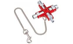 Ключ для электрошкафов KNIPEX 00 11 06, универсальный KN-001106, KN-001106, 4621 руб., KN-001106, KNIPEX, Ключи для электрошкафов