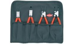Набор щипцов для стопорных колец KNIPEX 00 19 56, 4 предмета KN-001956, KN-001956, 9464 руб., KN-001956, KNIPEX, Наборы инструментов и комплектующих