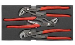 Набор переставных клещей KNIPEX 00 20 01 V03, в ложементе, 3 предмета KN-002001V03, KN-002001V03, 0 руб., KN-002001V03, KNIPEX, Наборы инструментов и комплектующих