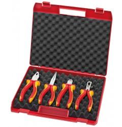 """Чемодан пластиковый с инструментом,4 предмета модель : """"Kompakt-box"""" 00 20 15, KN-002015, 13750 руб., KN-002015, KNIPEX, Наборы инструментов и комплектующих"""