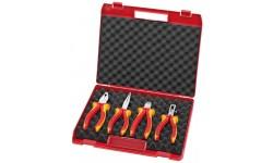 """Чемодан пластиковый KNIPEX 00 20 15 """"Kompakt-box"""" с инструментом, 4 предмета KN-002015, KN-002015, 16990 руб., KN-002015, KNIPEX, Наборы инструментов и комплектующих"""