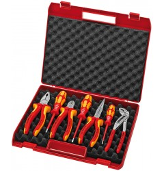Чемодан пластиковый с инструментом,7 предметов для электромонтажа 00 21 15, KN-002115, 15735 руб., KN-002115, KNIPEX, Наборы инструментов и комплектующих