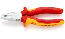Плоскогубцы диэлектрические KNIPEX 01 06 160, VDE 1000V, комбинированные, 160 мм KN-0106160, KN-0106160, 4383 руб., KN-0106160, KNIPEX, Плоскогубцы комбинированные