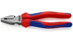 Плоскогубцы KNIPEX 02 02 200, особой мощности, двухкомпонентные ручки, 200 мм KN-0202200, KN-0202200, 3059 руб., KN-0202200, KNIPEX, Плоскогубцы комбинированные