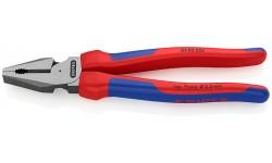 Плоскогубцы KNIPEX 02 02 225, особой мощности, двухкомпонентные ручки, 225 мм KN-0202225, KN-0202225, 3629 руб., KN-0202225, KNIPEX, Плоскогубцы комбинированные