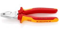 Плоскогубцы KNIPEX 02 06 180, особой мощности, диэлектрические VDE 1000V, 180 мм KN-0206180, KN-0206180, 3925 руб., KN-0206180, KNIPEX, Плоскогубцы комбинированные