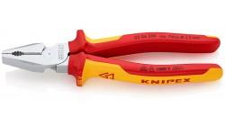 Плоскогубцы KNIPEX 02 06 200, особой мощности, диэлектрические VDE 1000V, 200 мм KN-0206200, KN-0206200, 4127 руб., KN-0206200, KNIPEX, Плоскогубцы комбинированные