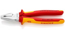 Плоскогубцы KNIPEX 02 06 225, особой мощности, диэлектрические VDE 1000V, 225 мм KN-0206225, KN-0206225, 4778 руб., KN-0206225, KNIPEX, Плоскогубцы комбинированные
