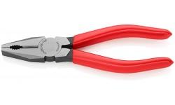 Плоскогубцы KNIPEX 03 01 160, комбинированные, однокомпонентные ручки, 160 мм KN-0301160, KN-0301160, 1725 руб., KN-0301160, KNIPEX, Плоскогубцы комбинированные
