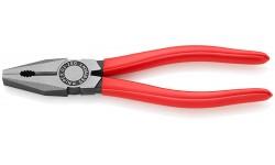 Плоскогубцы KNIPEX 03 01 200, комбинированные, однокомпонентные ручки, 200 мм KN-0301200, KN-0301200, 2106 руб., KN-0301200, KNIPEX, Плоскогубцы комбинированные