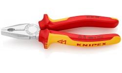 Плоскогубцы KNIPEX 03 06 180, комбинированные, изолированные VDE 1000V, 180 мм KN-0306180, KN-0306180, 3288 руб., KN-0306180, KNIPEX, Плоскогубцы комбинированные