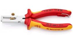 фото Инструмент для удаления изоляции хромированный 160 mm KNIPEX 11 06 160T (KN-1106160T])