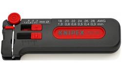 фото Съемник изоляции KNIPEX mini 12 80 100 SB, с плавной настройкой, 0.30 - 1.0 мм² KN-1280100SB (KN-1280100SB])