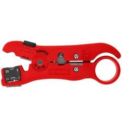 Инструмент для удаления изоляции с коаксиального и дата-кабеля 125 mm KNIPEX 16 60 06SB, KN-166006SB, 1524 руб., KN-166006SB, KNIPEX, Зачистка  Изоляции